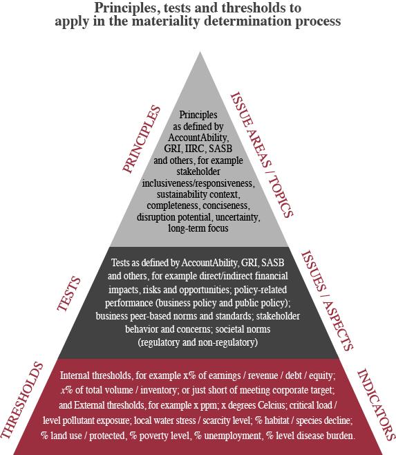Sustainability Thresholds - Materiality Tracker